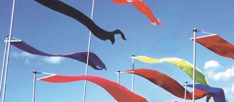 Portatif Bayrak Aparatları Rüzgar Testi