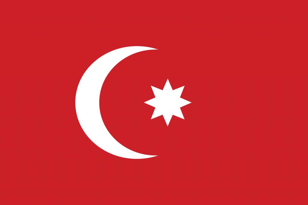 sekiz köşeli türk bayrağı