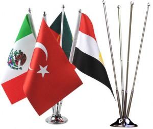 dörtlü masa bayrağı